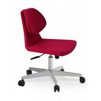 Gakko Office Chair, Base A2, Pink Wool by SohoConcept Furniture