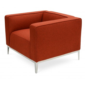 California Armcahir, Stainless Steel Base, Edge Hill Camira Wool by SohoConcept Furniture