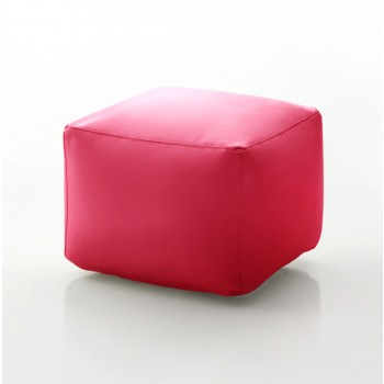 Truly Small Pouf, Fuchsia Eco-Leather
