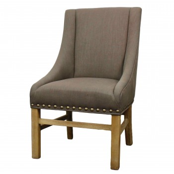 Aaron Sloping Arm Chair, Bark by NPD (New Pacific Direct)