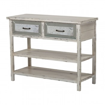 Sandall Side Board With Drawers And Shelf In Antique Cream