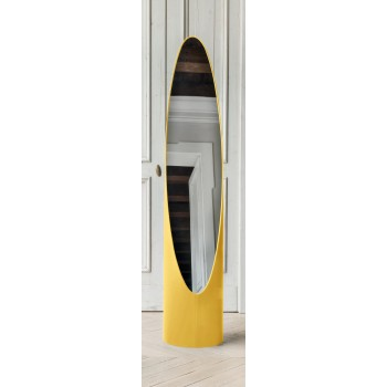 Kolonaky Mirror, Yellow Leather
