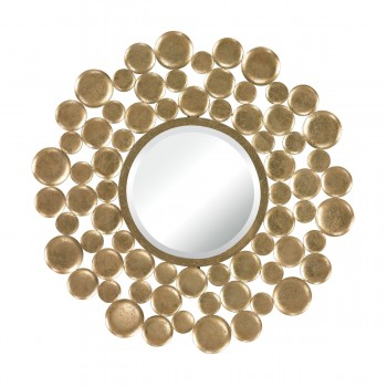 Beattystown Gold Leaf Bubble Frame Mirror