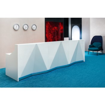 Alpa ALP07 Reception Desk, White
