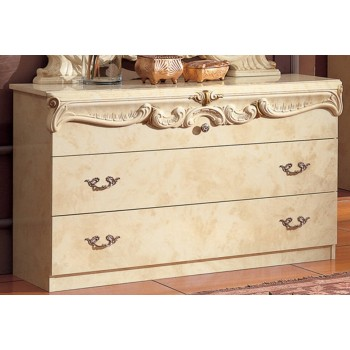 Barocco Single Dresser, Ivory