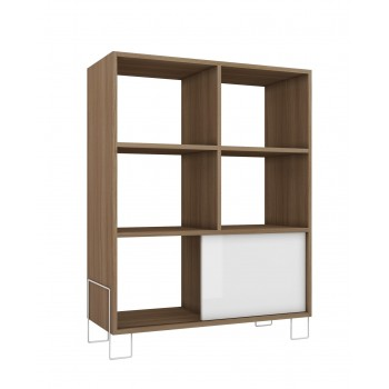Boden Mid-High Side Stand, Oak + White
