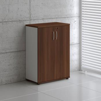 Basic K3104 2-Door Storage, White + Lowland Nut
