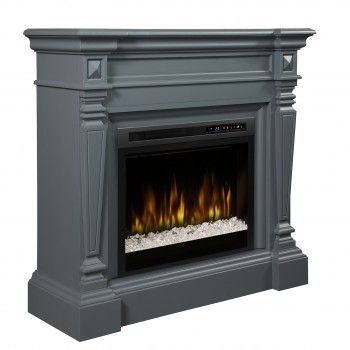Heather Mantel Electric Fireplace, Wedgewood Grey Finish, Acrlyic Ice (XHD28) Firebox