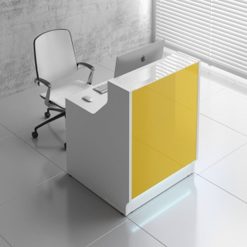 Linea LIN13 Reception Desk, Yellow