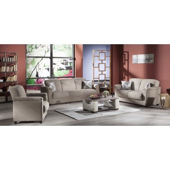 Aspen 3-Piece Living Room Set, Forest Brown