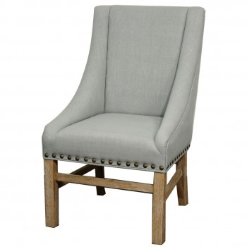 Aaron Sloping Arm Chair, Soft Blue by NPD (New Pacific Direct)