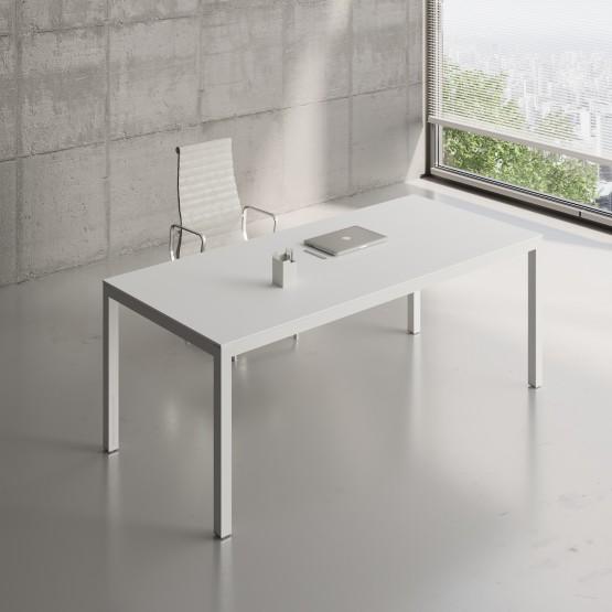 Impuls Desk IM06, All White Pastel photo