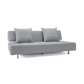 Long Horn Sofa Bed, 552 Soft Pacific Pearl Fabric