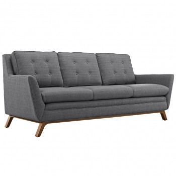 Beguile Fabric Sofa, Gray by Modway