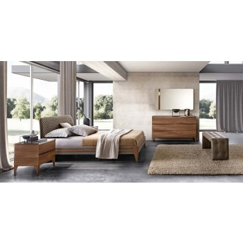 Akademy Euro King Size Bedroom Set w/Eco Leather Ring
