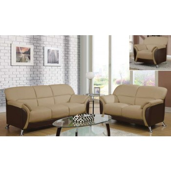 U9103 3-Piece Living Room Set, Cappuccino + Chocolate