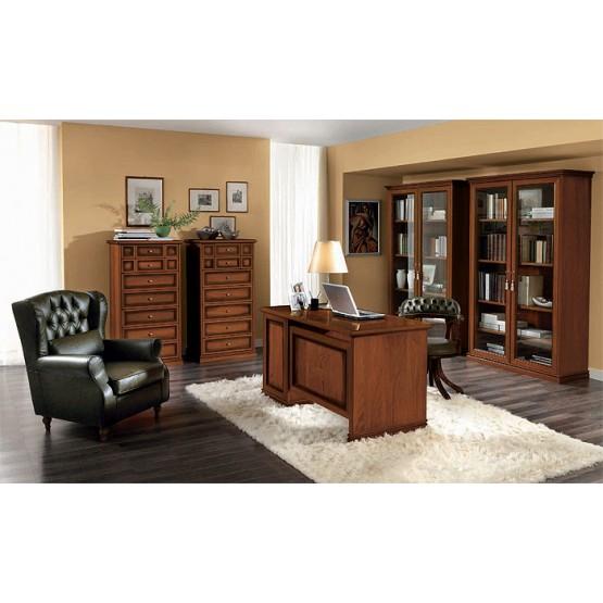 Nostalgia 2-Piece Office Set w/3-Drawer Desk, Walnut photo