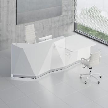 Alpa ALP22L Reception Desk, White