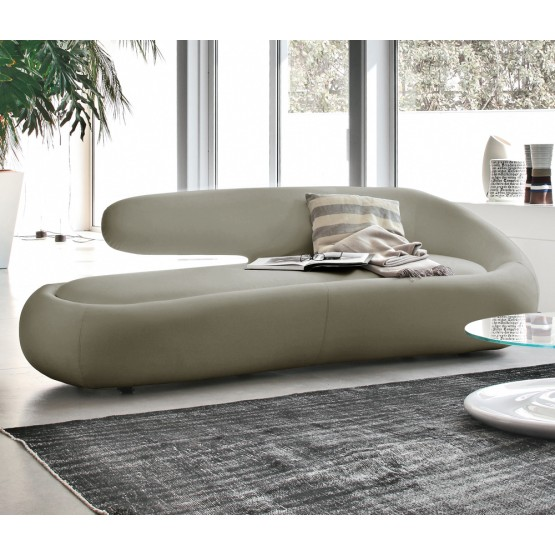 Duny Sofa, Gull Grey Leather photo