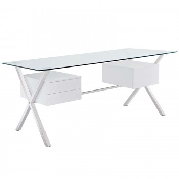 Abeyance Office Desk, White by Modway