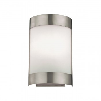 1 Light Wall Sconce Lamp in Brushed Nickel and White Glass 8