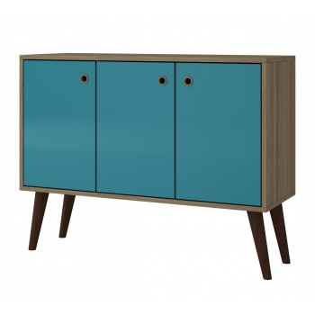Bromma Buffet, Oak + Aqua