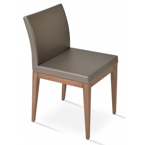 Aria Wood Dining Chair, American Walnut Wood, Golden PPM photo