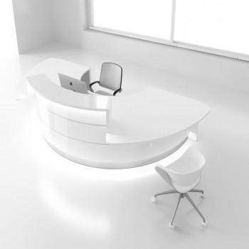 Valde LAV05L Reception Desk, High Gloss White