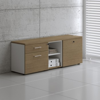 Managerial Storage A12M, White + Canadian Oak