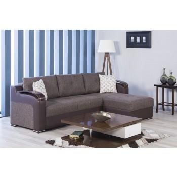 Divan Deluxe Sectional Sofa, Kalinka Brown