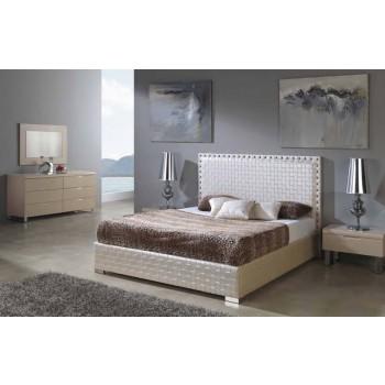 649 Manhattan-Trenzado 3-Piece Euro King Size Storage Bedroom Set, Composition 2, Moka