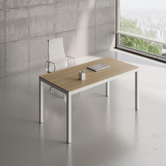 Impuls Desk IM04, White Pastel + Canadian Oak photo