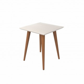 Utopia High Square End Table, Off White
