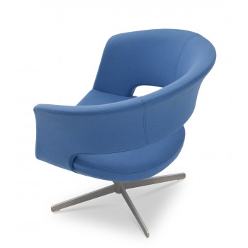 Ada 4 Star Base Armchair, Sky Blue Camira Wool by SohoConcept Furniture