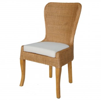 Sophie Rattan Dining Chair, Honey Glaze Brown