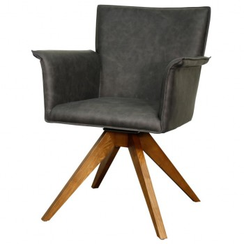 Addison PU Chair, Walnut Legs, Antique Grey by NPD (New Pacific Direct)