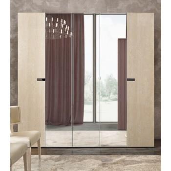 Ambra 5-Door Wardrobe w/Mirror