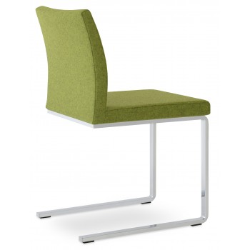Aria Flat Dininng Chair, Forest Green Camira Wool by SohoConcept Furniture