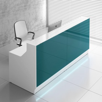 Linea LIN20 Reception Desk, Dark Turquoise