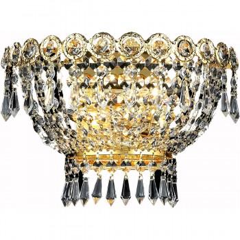 "Century 2-Light 12"" Gold Wall Sconce in Elegant Cut"