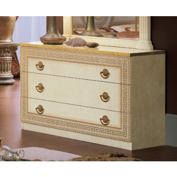 Aida Single Dresser, Ivory + Gold