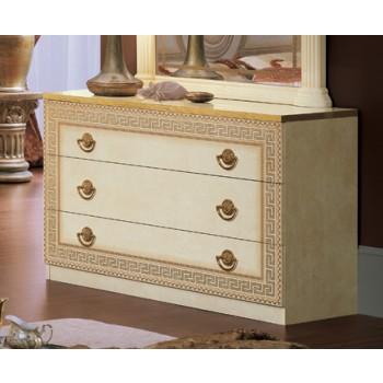 Aida Single Dresser, Ivory + Gold