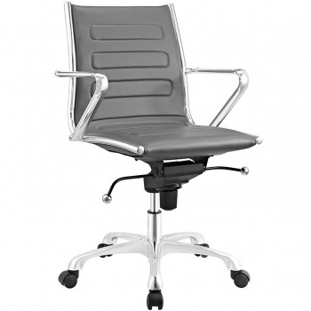 Ascend Mid Back Office Chair, Gray by Modway