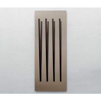 Alicante Bronzed Mirror with Coat Hanger, Dark Oak Heat-Treated