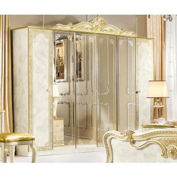 Leonardo 6-Door Wardrobe w/4 Mirrors