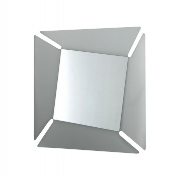 Callas Square Mirror, Transparent Smoked Grey