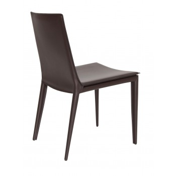 Tiffany Dining Chair, Brown Bonded Leather by SohoConcept Furniture