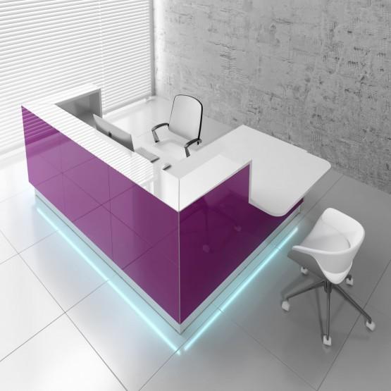 Linea LIN41L Reception Desk, Fuchsia photo