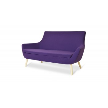 Rebecca Wood Two Seater, Natural Ash, Collingwood Camira Wool by SohoConcept Furniture