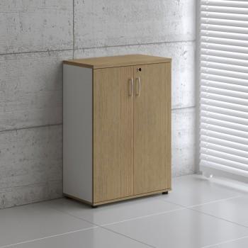 Basic K3104 2-Door Storage, White + Canadian Oak
